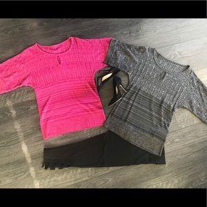 Pink & Black Keyhole Sweaters